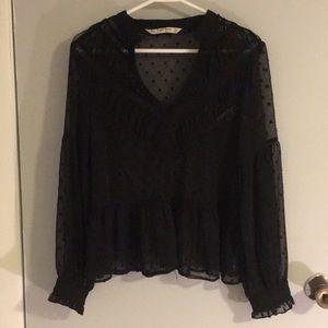 Black Zara top size M